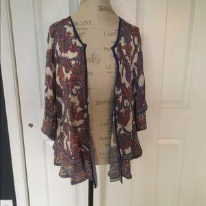 NWOT Anthropologie Tolani 100% Silk Kimono Petite